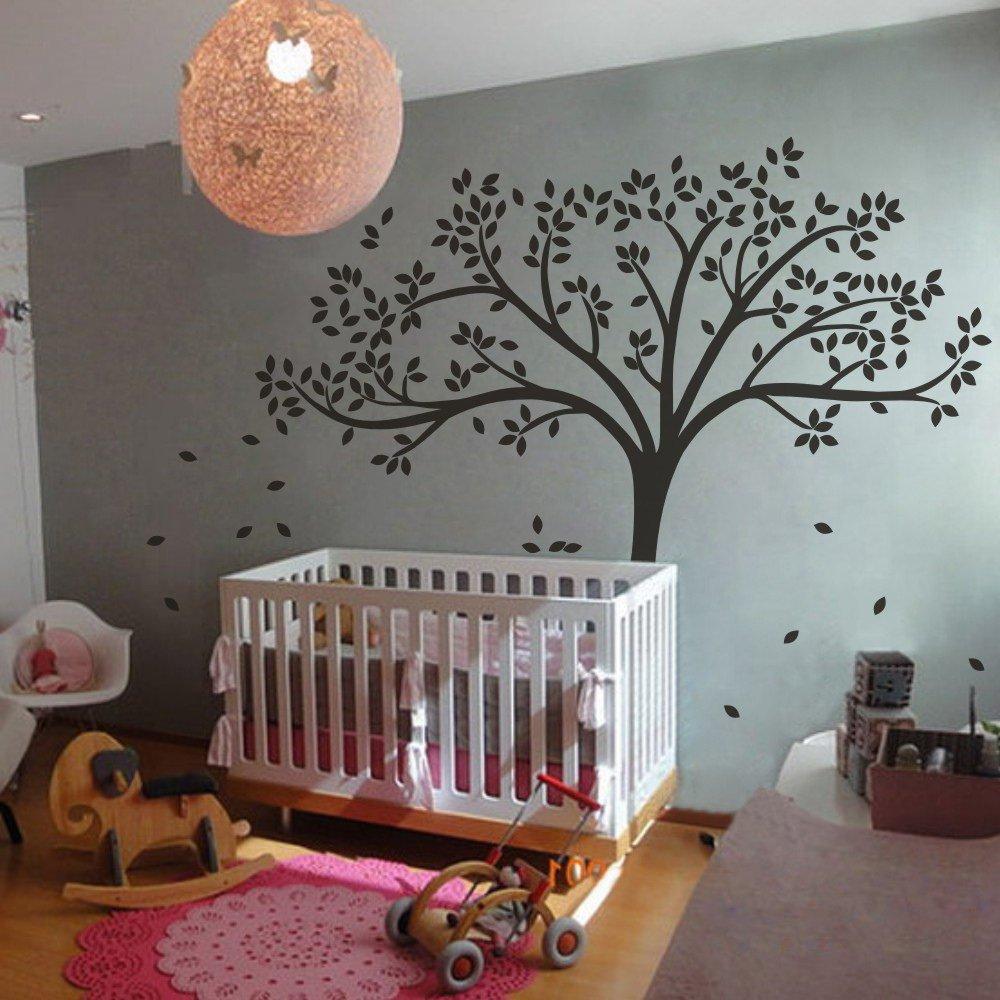 Amazon.com: MairGwall Fall Tree Wall Decal - Monochromatic Tree Decal - Baby  Nursery Wall D|cor 78