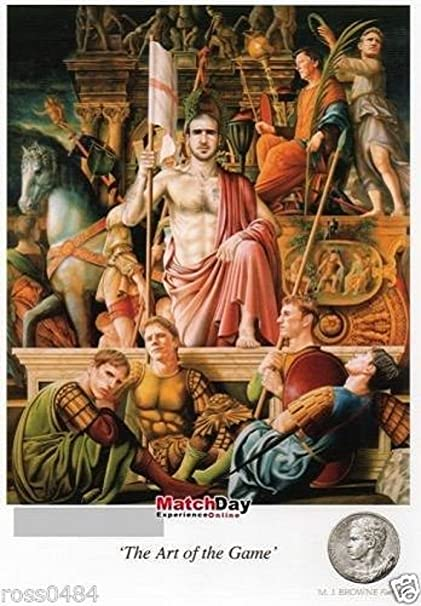 Manchester United Eric Cantona Jeu L Art De La Carte Postale Signe Michael J Browne Ltd Edition Amazon Fr Sports Et Loisirs
