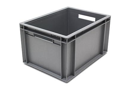 20L Euro Storage Container Box 400x300x230 Amazoncouk DIY Tools