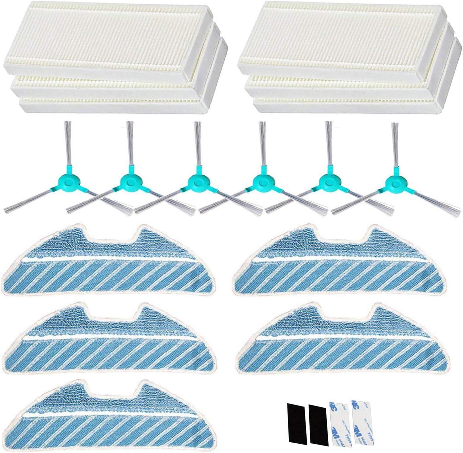 Simuke 6 HEPA filtro, 6 cepillo lateral, 5 paños, para Cecotec ...