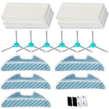 Simuke 6 HEPA filtro, 6 cepillo lateral, 5 paños, para Cecotec Conga ...