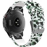 """MoKo Garmin Fenix 5 Cinturino, Braccialetto Morbido di Ricambio in Silicone per Garmin Fenix 5 / forerunner 935 Smart Watch (NON per Fenix 5X o 5S), per Polso 5.31""""-8.85"""", Verde"""