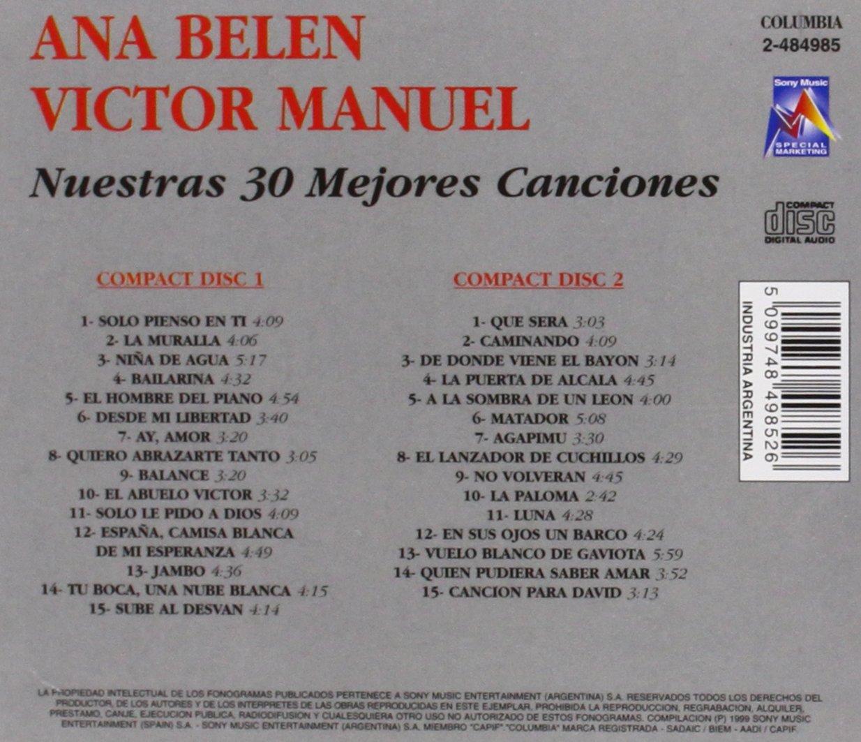 BELEN ANA / MANUEL VICTOR - Mis 30 Mejores Canciones ...