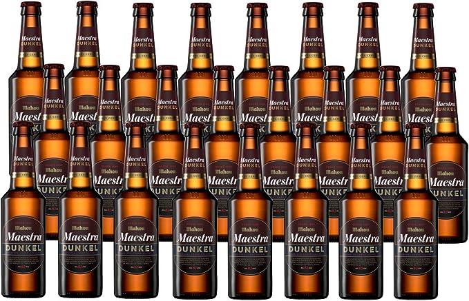 Mahou Maestra Dunkel Cerveza Lager Oscura, 6.1% de Volumen de Alcohol - Pack de 24 x 33 cl: Amazon.es: Alimentación y bebidas