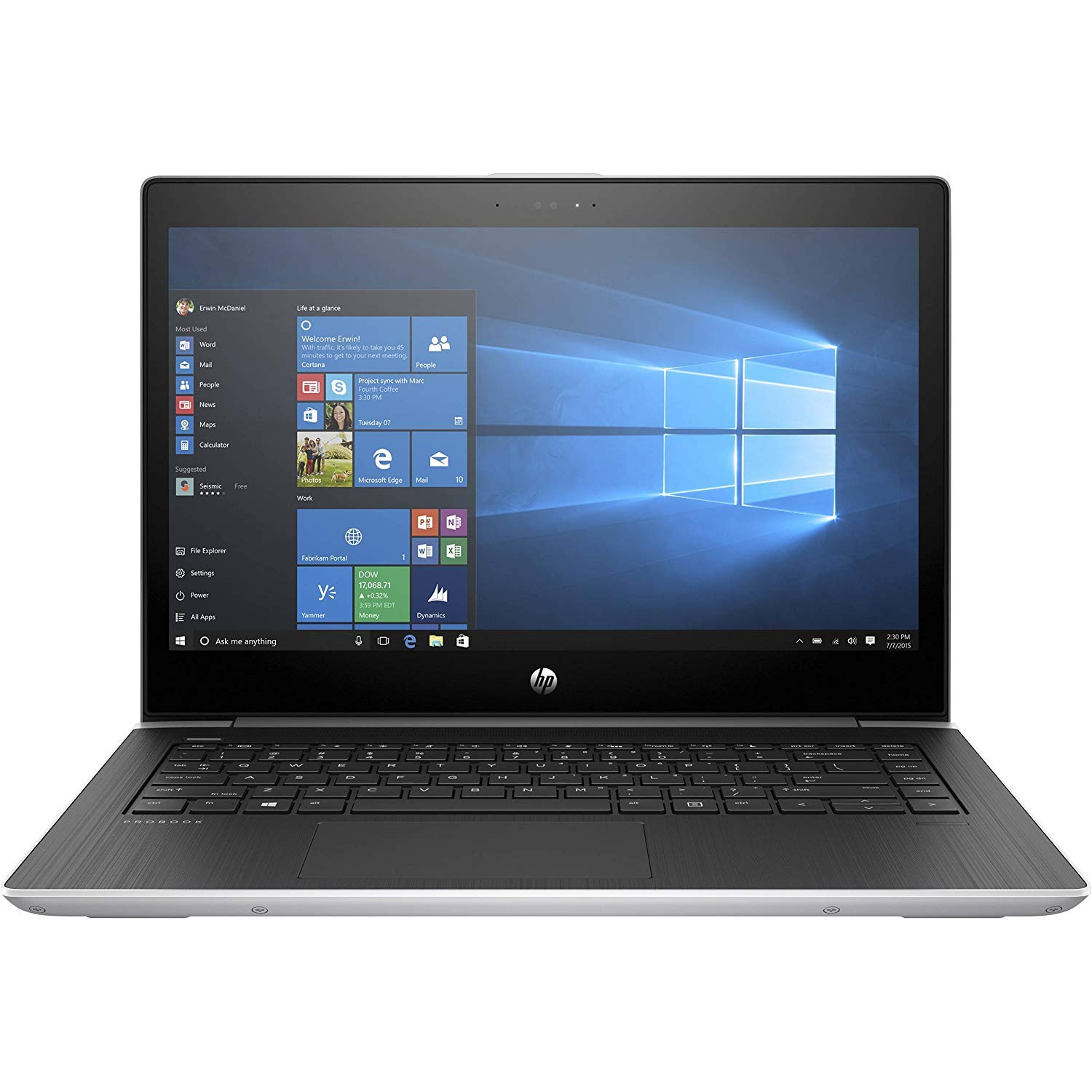"HP Probook 440 G5 14"" Full HD FHD (1920x1080) Business Laptop (Intel Core i5-7200U, 8GB DDR4 RAM, 256GB PCIe NVMe M.2 SSD) Fingerprint, Backlit KB, Bluetooth, Type C, HDMI, VGA, Windows 10 Pro"