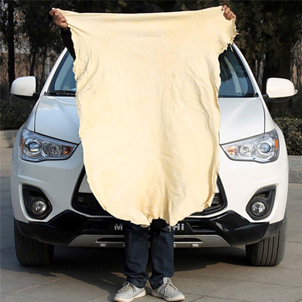 Zantec Toalla de secado rápido absorbente de gamuza gamuza de limpieza de coches de cuero de gamuza natural