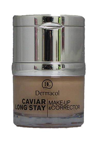 Dermacol CAVIAR LONG-STAY MAKE-UP CORRECTOR – Long Stay Make up with Caviar Extracts and Perfecting Concealer – 30ml 1oz 02 Fair
