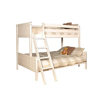 9eede888425 Comfy Living Triple 3ft Single   4ft Small Double Wooden Enmore Bunk in  White With 2