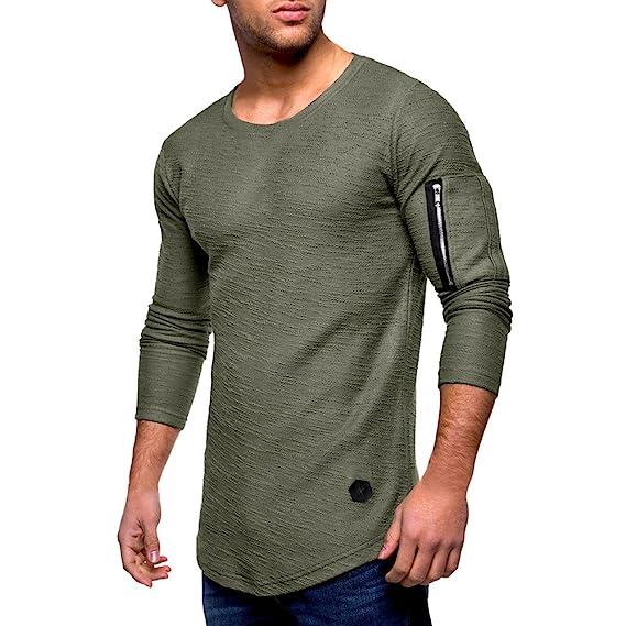 Morwind Sudaderas Hombre, Jersey Cuello Redondo Sueter Manga Larga Pullover Sweatshirt Camisas de Futbol Camisetas