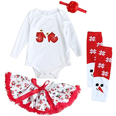 5664746c7c6 Amazon.com  FANCYINN Little Girls Christmas Costume Princess Santa Tutu  Dress Party Clothes  Clothing