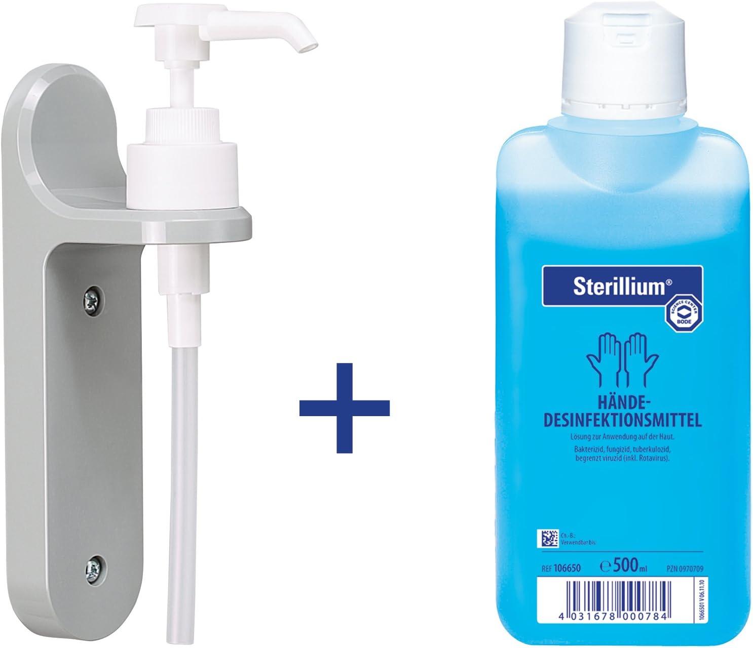 Handedesinfektion Sterillium 500 Ml Und Eine Wandhalterung Mit