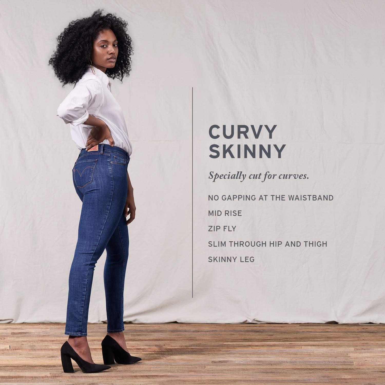 Levi's womensCurvy Skinny Jeans Jeans Deep Blue Cosmos