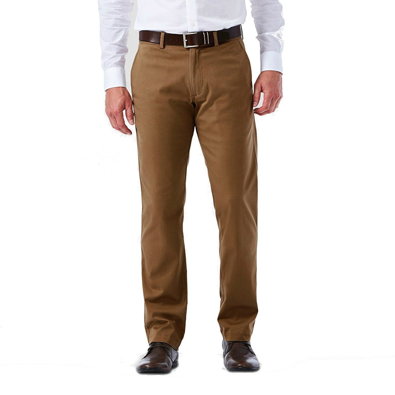 36W x30L, Tan Herringbone Kirkland Signature Mens 100/% Wool Flat Front Dress Pants