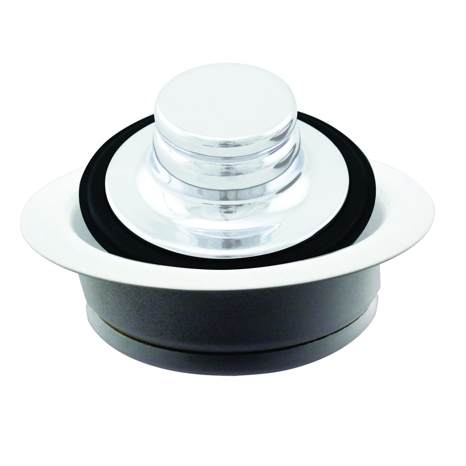 Westbrass InSinkErator Style Disposal Flange and Stopper, Powder Coat White, D2089-50 by Westbrass