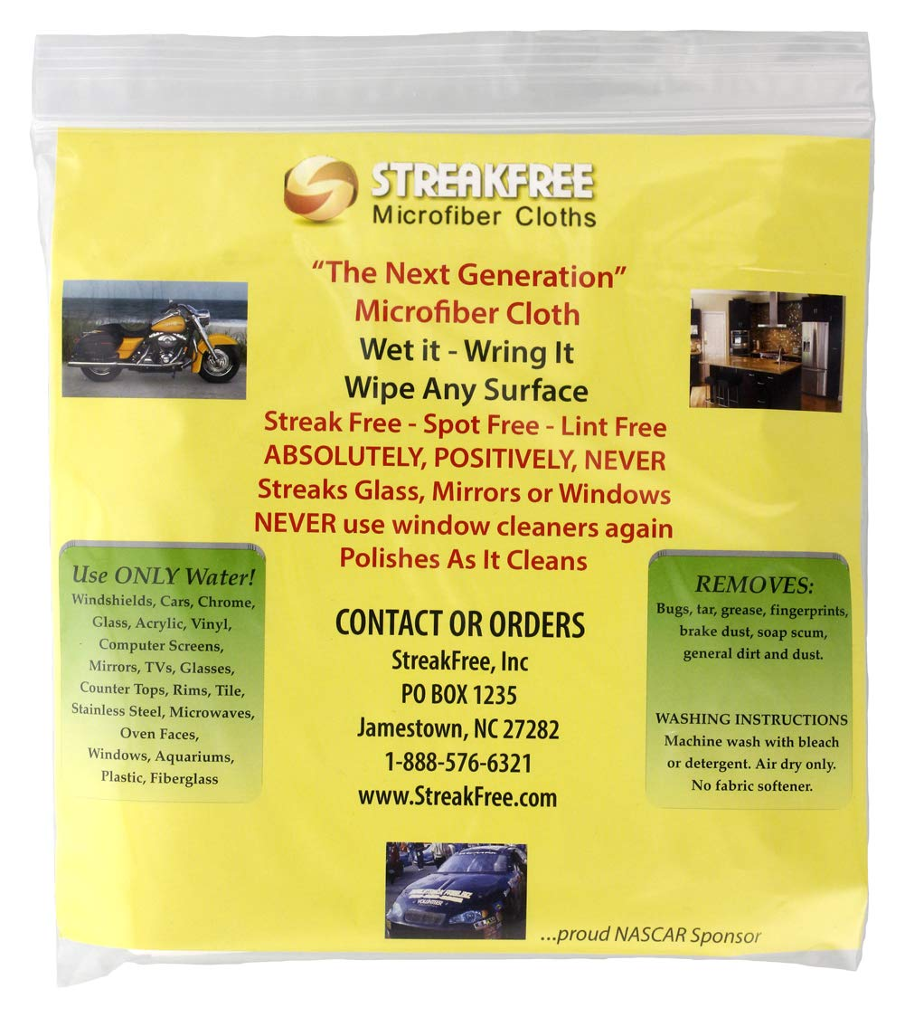 StreakFree ''The Next Generation'' Microfiber Cloths - Pack of 15