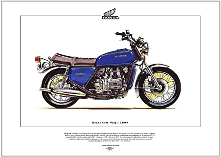 Honda GL1000 Goldwing Fine Art Print. --- Ready to frame.: Amazon.co ...