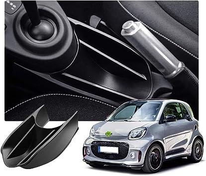 TOOGOO pour Mercedes Nouveau Smart 453 pour Deux Forfour Accoudoir Bo?Te de Rangement Centrale Ballast Central Bo?Te de Rangement Accessoires de Voiture Daim-Noir