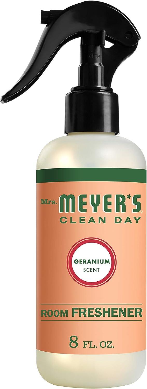 Mrs. Meyer's Clean Day Room Freshener, Geranium Scent, 8 ounce spray bottle