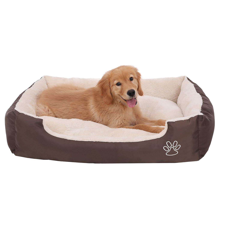 SONGMICS Letto per Cani, Cuscino per Cani, divano per cane, cestino per cane, 75 × 58 × 17 cm PGW03Z