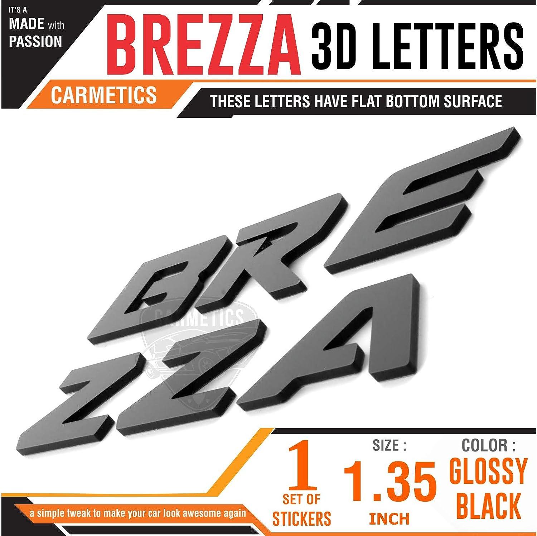 CarMetics BREZZA Org Type 3D Letters for Maruti Suzuki BREZZA Black car Styling 3D Stickers Letters Brezza Accessories: Amazon.in: Car & Motorbike