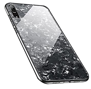 promo code 443ed 957b7 Huawei P20 Case, Huawei P20 Pro Cover Anti-Scratch 9H Tempered Glass Back  Cover with Soft TPU Shock Absorption Silicone Bumper Protective Case for ...