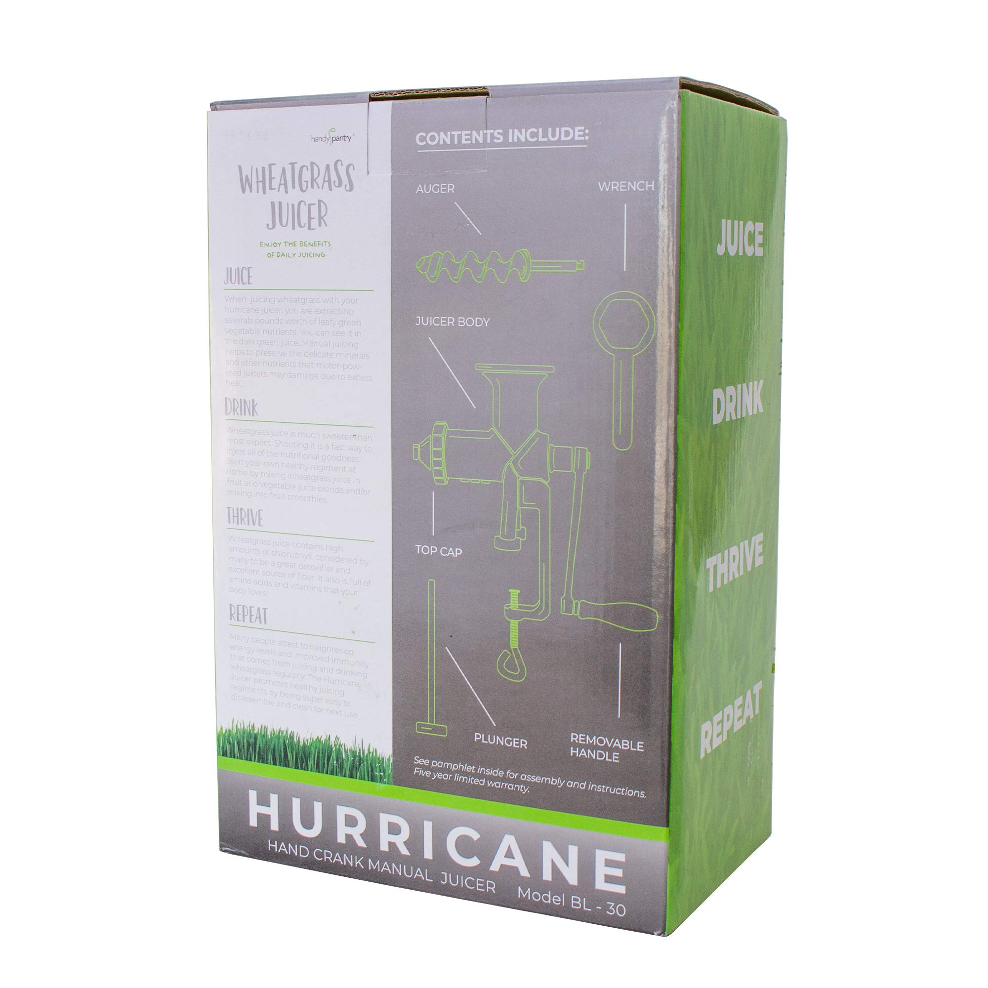 Handy Pantry Hj Hurricane Stainless Steel Manual