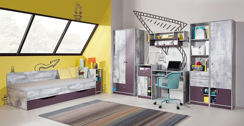 Jugendzimmer Set C Marin Lila Weißgrau Kaufen