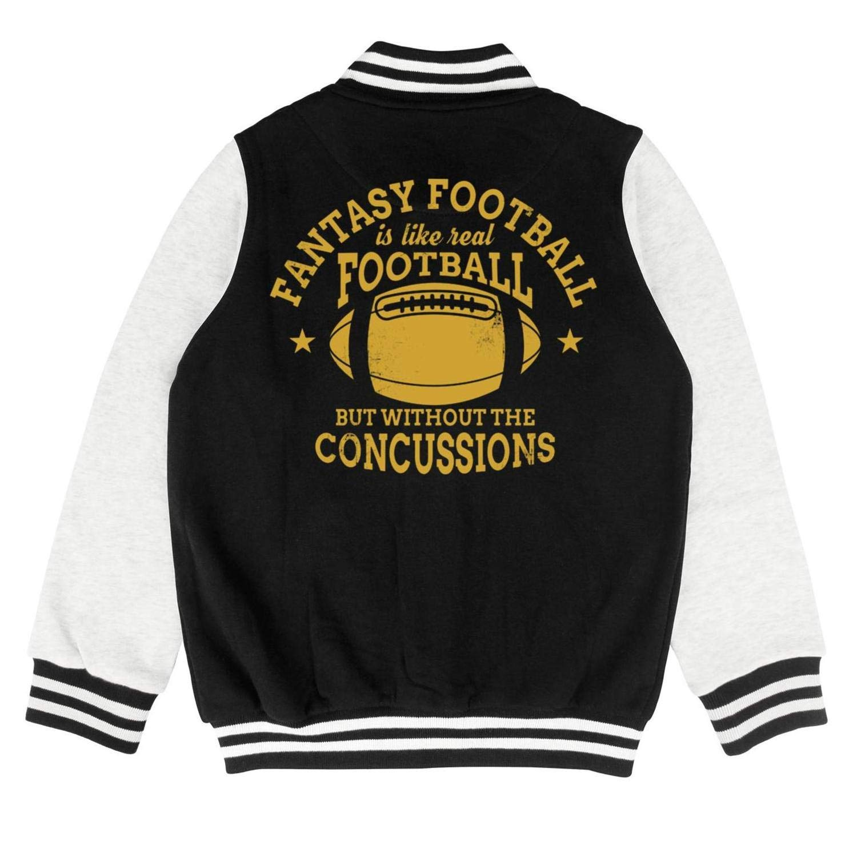 Printed Cotton Jackets Button Baseball Jacket 2-10 Years Kids Girls Boys Fantasy-Football-No-Concussions
