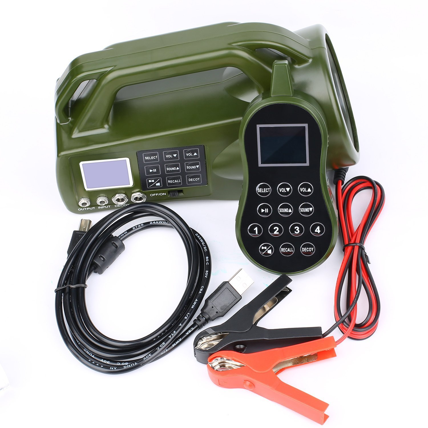 HKCYSEA Hunting Bait Caller 400 Songs Outdoor MP3 Player LCD Screen Loud Speaker With Wireless Remote Control Wildlife Decoy Game Predator by HKCYSEA (Image #8)