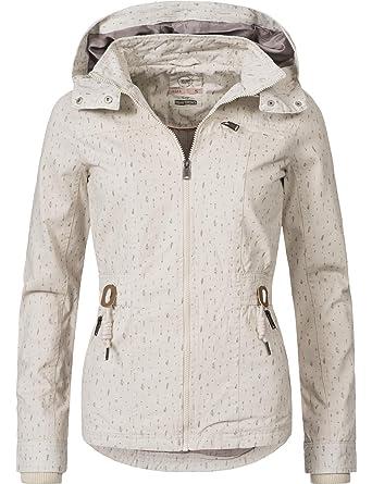 Urban Surface Damen Übergangs-Jacke leichte Baumwoll-Frühlingsjacke 43121A  2 Farben XS-XL  Amazon.de  Bekleidung e51a2ebe0b