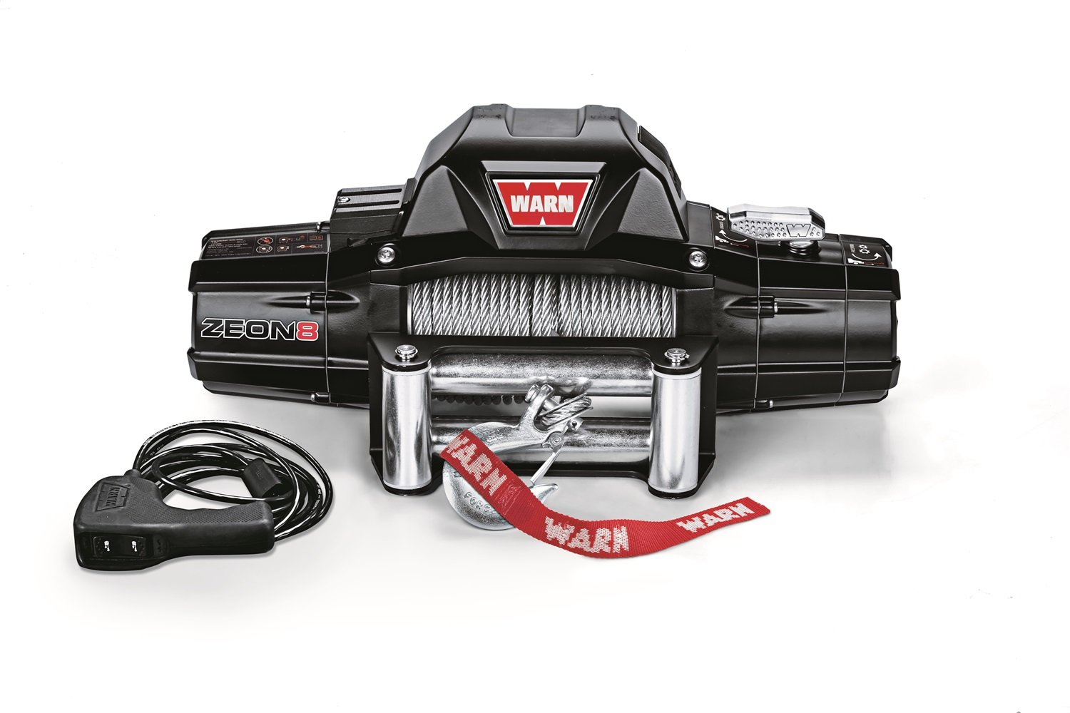 8000 lb Warn 89305 ZEON 8-S Winch with Synthetic Rope Capacity
