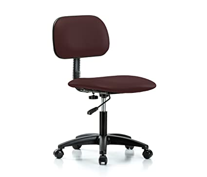 Perch Rolling Lab Chair With Adjustable Basic Backrest For Carpet Or  Linoleum, Desk Height,