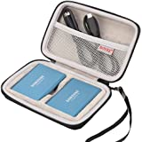 BOVKE 2-in-1 Carrying Case for Samsung T5 T3 T1 Portable 250GB 500GB 1TB 2TB SSD USB 3.1 Type C Hard Drive External Solid Sta