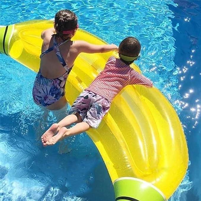 Flotador Inflable De La Piscina Del Plátano Piscina Al Aire Libre Raft Gigante Flotante Del Plátano Gigante Ociosas Inflables Decoraciones Del Partido De La ...