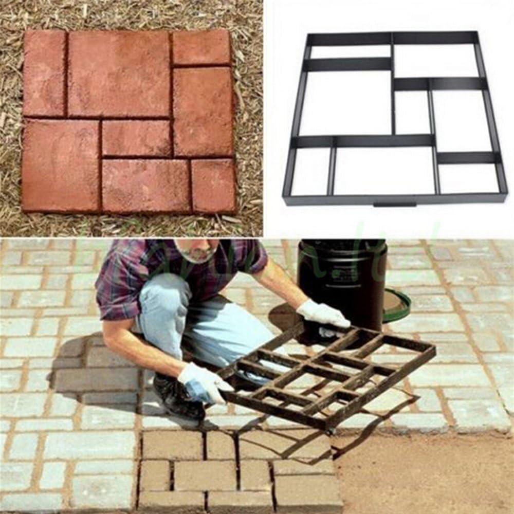 Malayas® Molde para cemento, Molde para Hormigón, Molde para hacer Pavimentos/ Caminos/ Suelos de Jardín, Patio, Balcón, Terraza, de Plástico ...