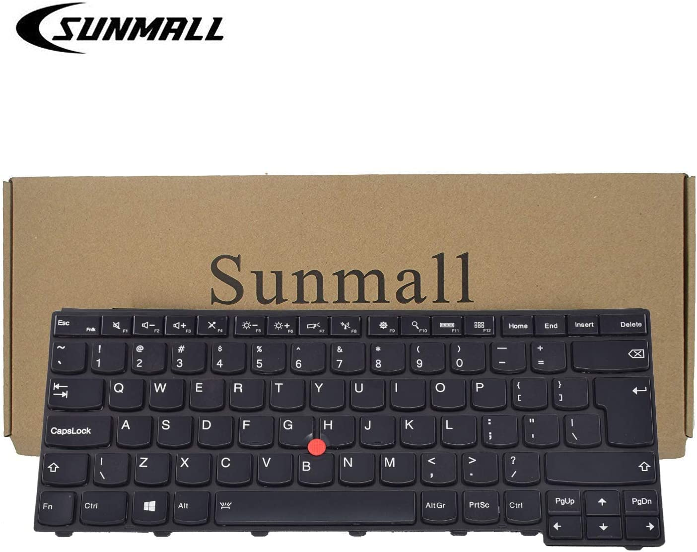 SUNMALL Backlit Keyboard Replacement with Big Enter Key for Lenovo ThinkPad T431 T431S E431 T440 T440P T440S E440 L440 T450 T450S T460 Series Laptop US Black Layout