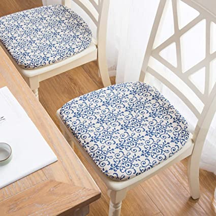 Amazon Com Peacewish Kitchen Chair Seat Cushions Set Of 6 Blue
