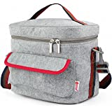 Lunch Bags, Pretty Handy Insulated Lunch Bag Cooler Bag, Reusable Picnic Lunch Bags Boxes with Zipper Closure for Men Women Adults Kids