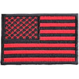 f994d89f282 Amazon.com  US American Flag Patch Bloodred   Black tactical - 3