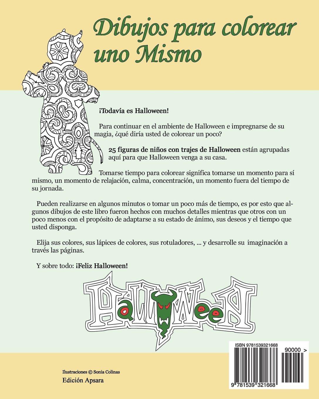 Dibujos para colorear uno Mismo - Halloween - Volumen 3: 25 figuras ...