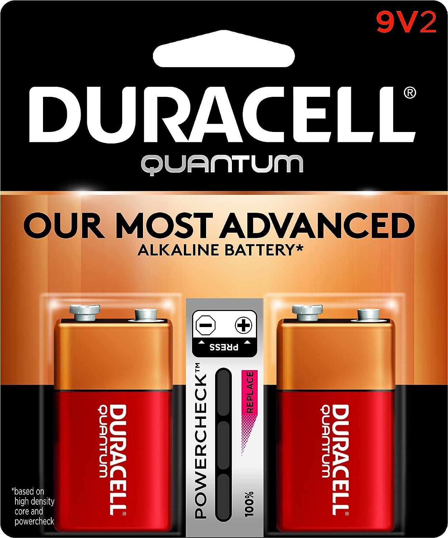 Duracell Quantum Alkaline 9-Volt Batteries Pack of 2