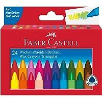 Faber-Castell 120024 driekantig waskrijt, etui met 24 stuks, 1 stuks
