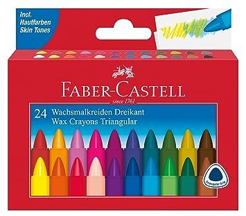 Faber-Castell AR-120024 - Triangular Cera 24 Veces Tiza ...