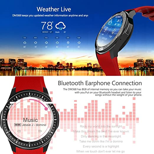 Amazon.com: Smart Watch, ZYooh DM368 Bluetooth Smart Watch ...