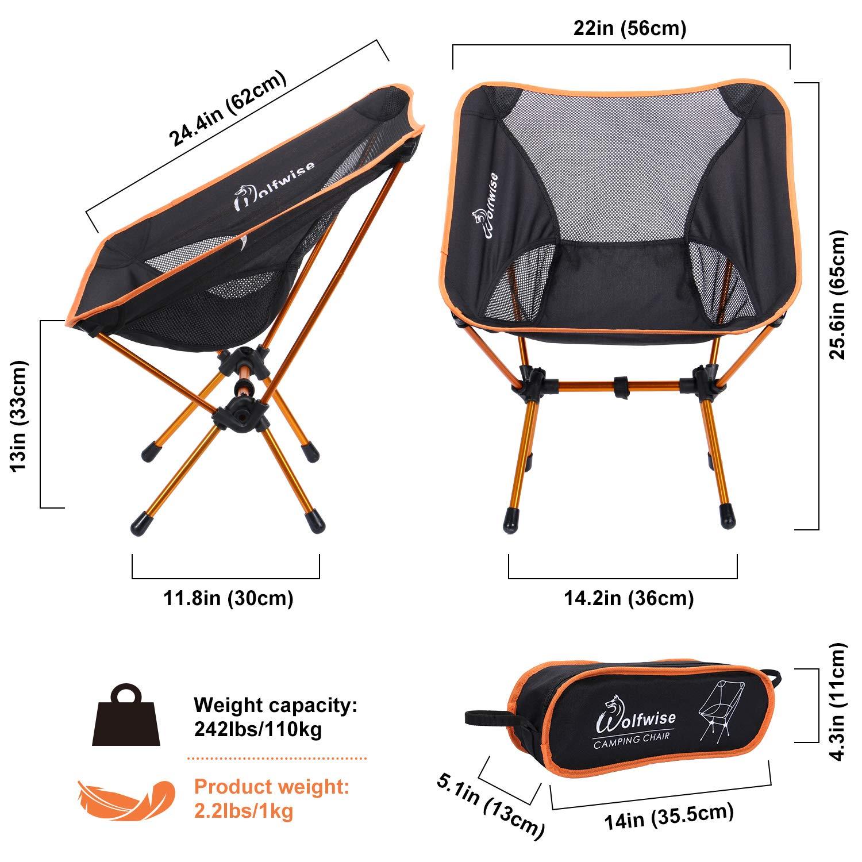 Amazon.com: WolfWise - Silla portátil ultraligera de ...