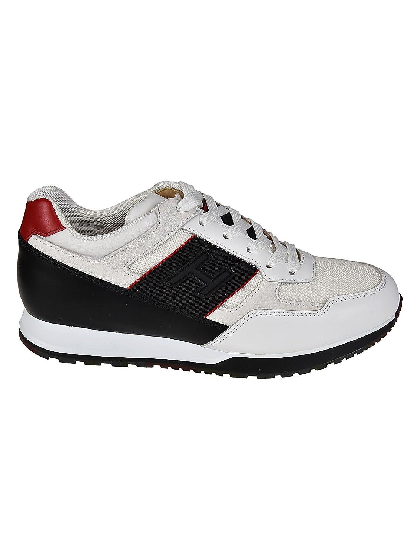 Hogan メンズ HXM3210K800IJM976N ホワイト/ブラック 革 運動靴 B07DNH6ZXQ