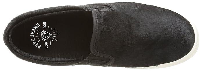 Pepe Jeans Ripley Plain Pony - Zapatillas de casa de Cuero Mujer, Color Negro, Talla 36: Amazon.es: Zapatos y complementos