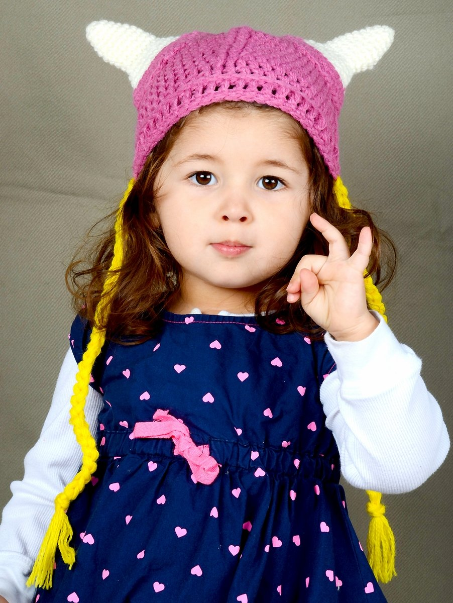 d8da048a0a7 Amazon.com  Pink Viking Beanie Hat with braids for Girl Baby or Toddler. 36  cm or 14 Inches  Baby