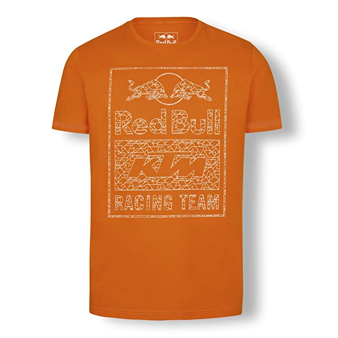 Red Bull KTM Mosaic Graphic Camiseta, Rojo Hombre Medium Top ...