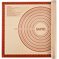 """Sapid Extra Thick Silicone Pastry Mat Non-slip with Measurements for Non-stick Silicone Baking Mat Extra Large, Dough Rolling, Pie Crust, Kneading Mats, Countertop, Placement Mats (20"""" x 28"""", Red)"""